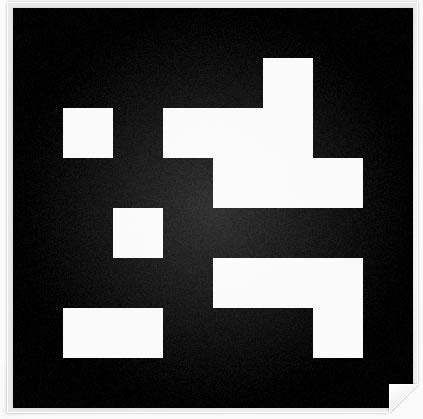 Ejemplo de marcador para el rastreo y la posterior presentación de AR