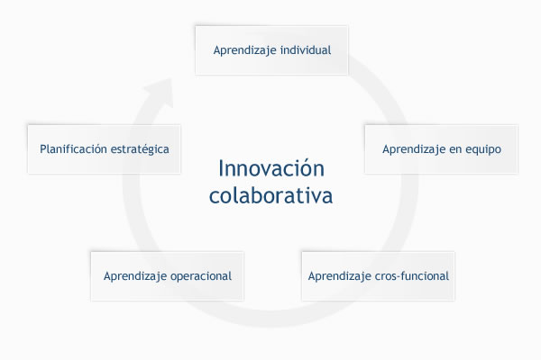 Dimensiones de una organización que aprende a través de la innovación colaborativa